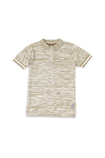 Creek | Short Sleeve Variegated Sweater Knit Polo