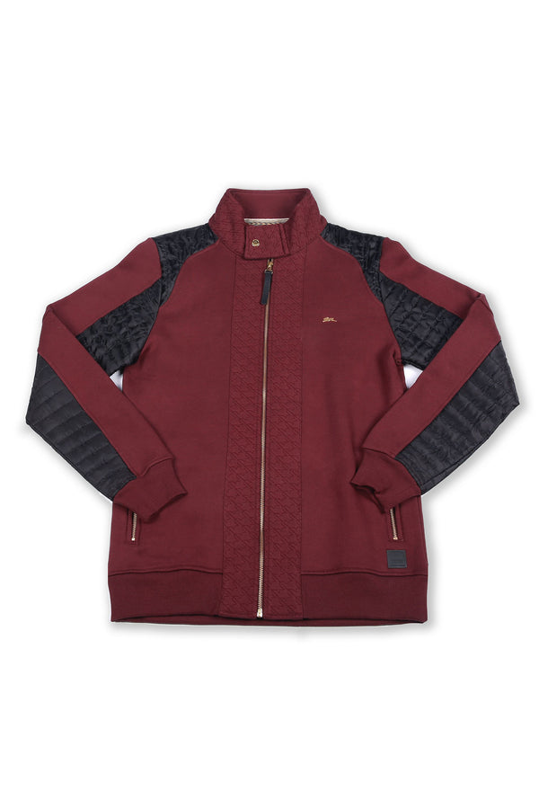 Mack | Long Sleeve Full Zip Color Block Knit Jacket