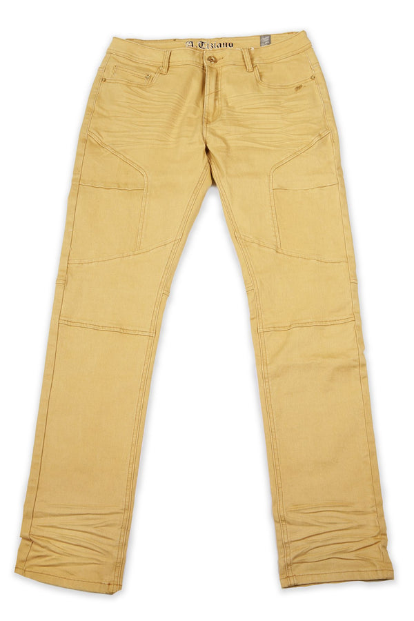 Roy | Solid Twill Jean With Hound EMB