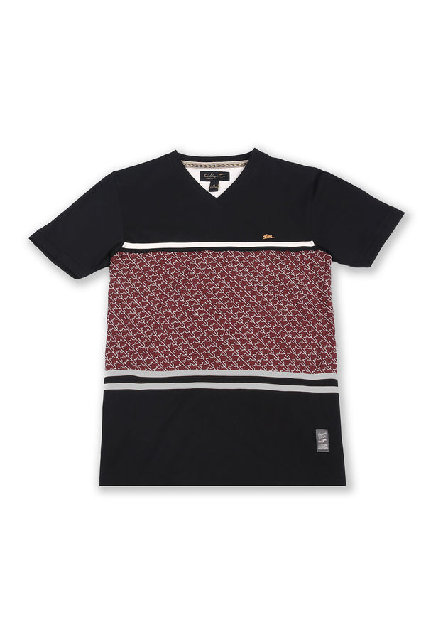 Tyler | Short Sleeve Knit Vee With Graphic