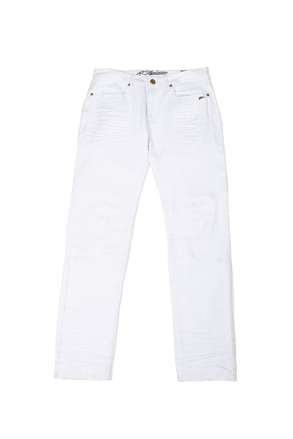 Ross | Men's Solid Twill White Jean