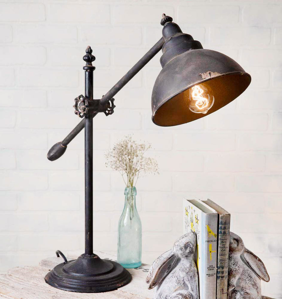 Adjustable Swing-Arm Lamp - Charming Wood Home