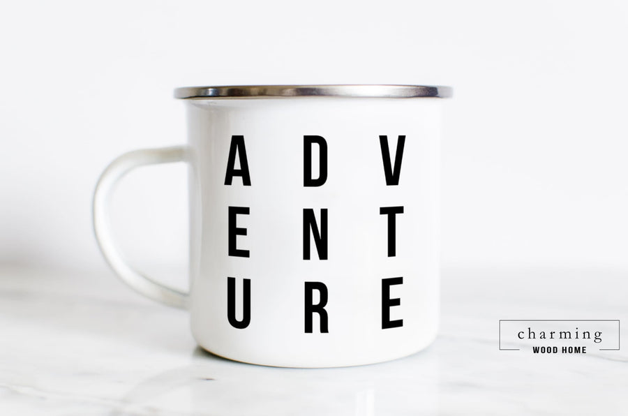 Adventure Modern Camper Mug - Charming Wood Home