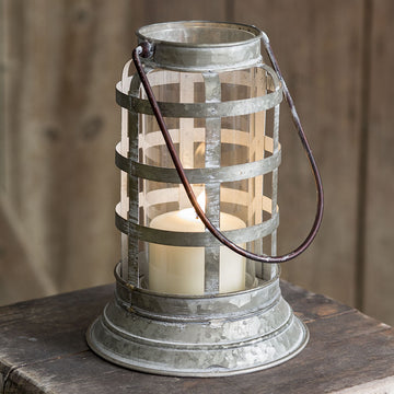 Metal Harbor Lantern - Charming Wood Home