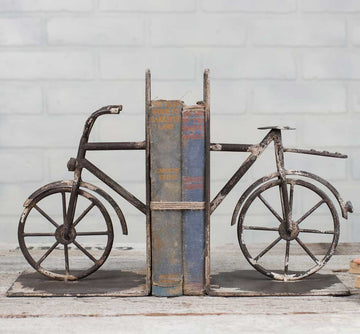 Bicycle Bookends - Charming Wood Home