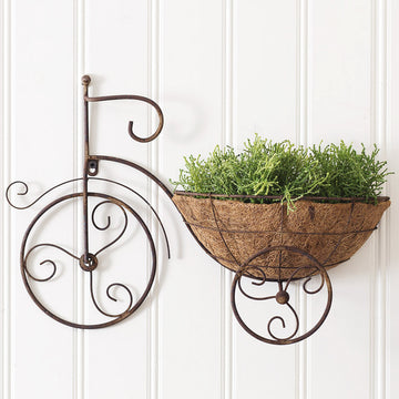 Bicycle Wall Planter - Charming Wood Home