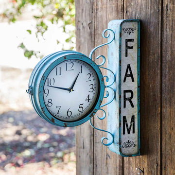 Farm Station Clock - Charming Wood Home