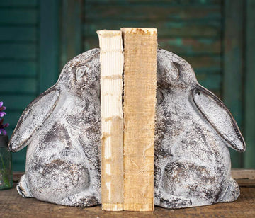 Bunny Bookends - Charming Wood Home