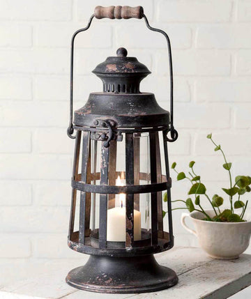 Curtis Island Candle Lantern - Charming Wood Home