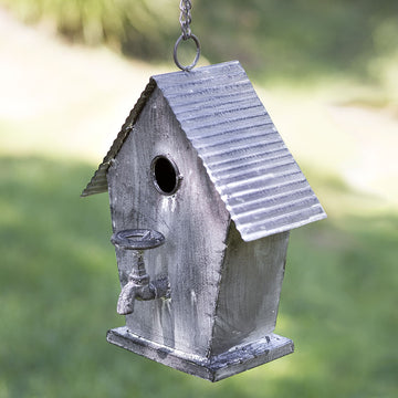 Garden Cottage Birdhouse - Charming Wood Home