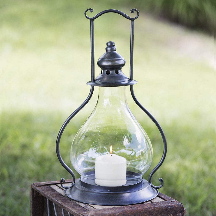Gunmetal Sydney Candle Lantern - Charming Wood Home
