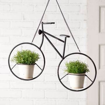 Hanging Bicycle Planter - Charming Wood Home