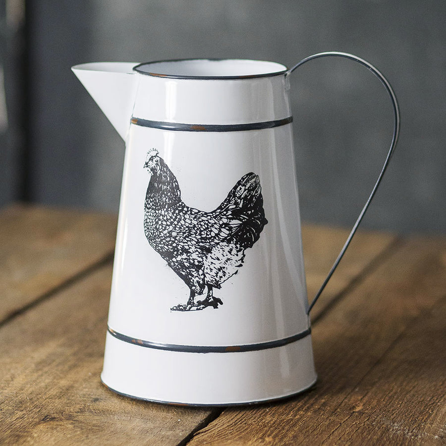 Henny Hen Decorative Pitcher - Charming Wood Home