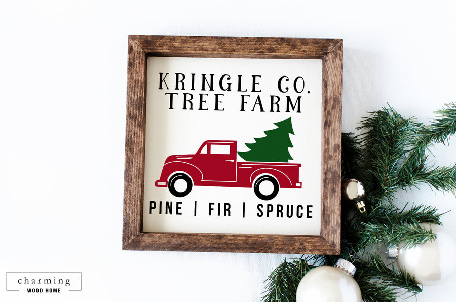Kringle Co Tree Farm Wood Sign - Charming Wood Home