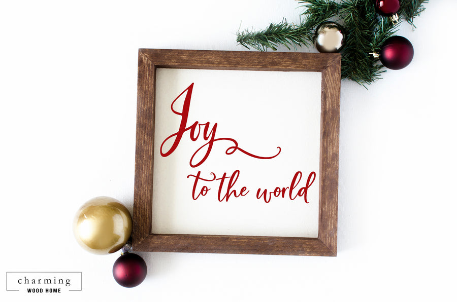Joy to the World Wood Sign - Charming Wood Home