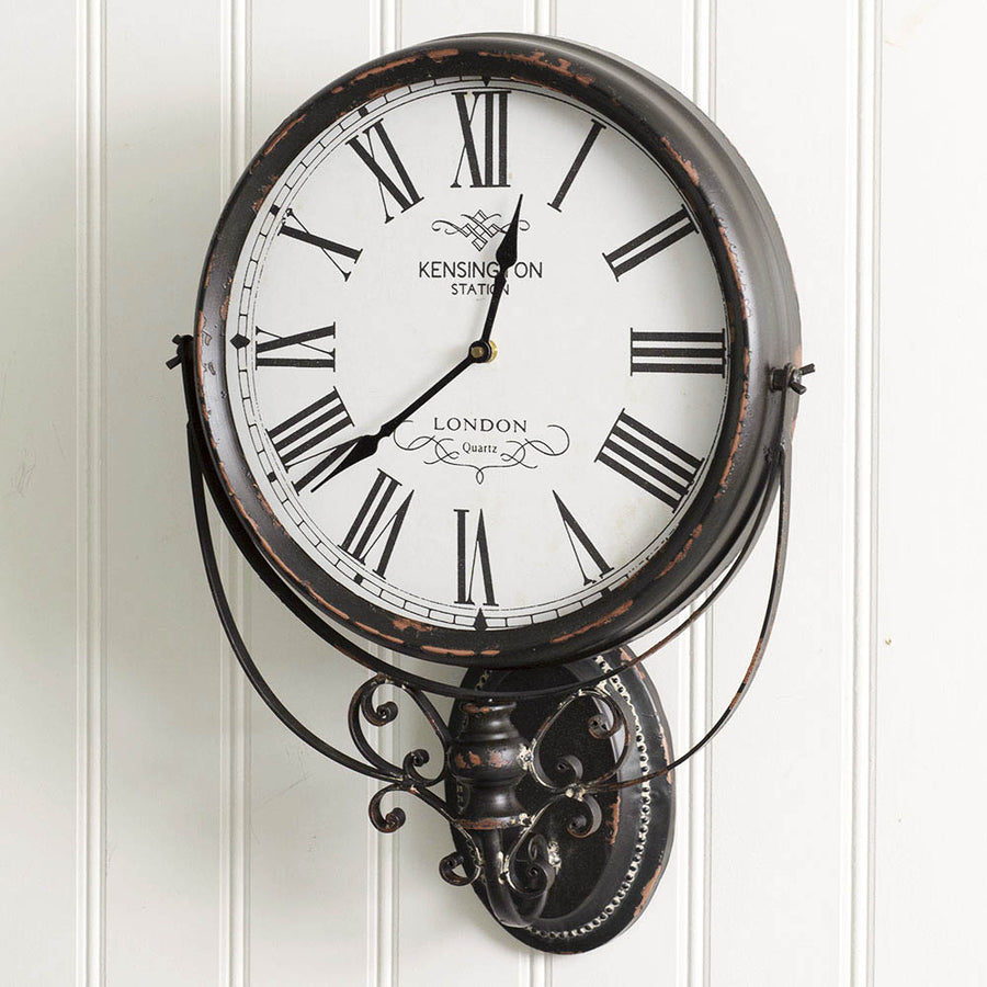 Kensington Station Wall Clock - Charming Wood Home