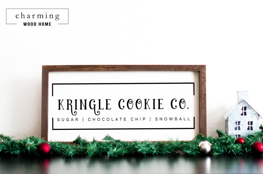 Kringle Cookie Co. Wood Sign - Charming Wood Home