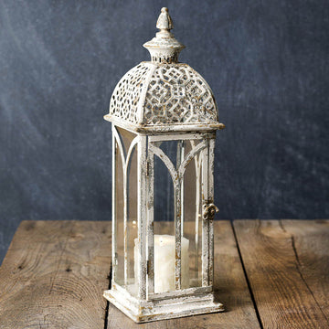 Lattice Top Lantern - Charming Wood Home