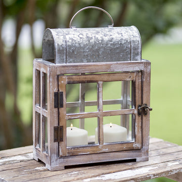 Bar Harbor Metal and Wood Lantern - Charming Wood Home
