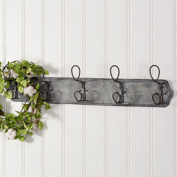 Metal Wall Mounted Entryway Rack - Charming Wood Home