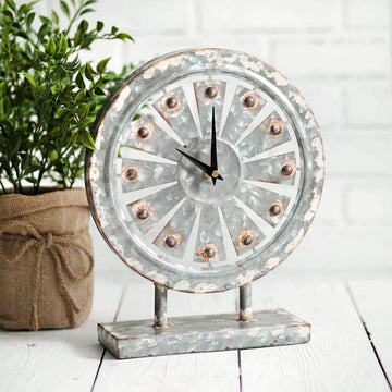 Windmill Tabletop Clock - Charming Wood Home
