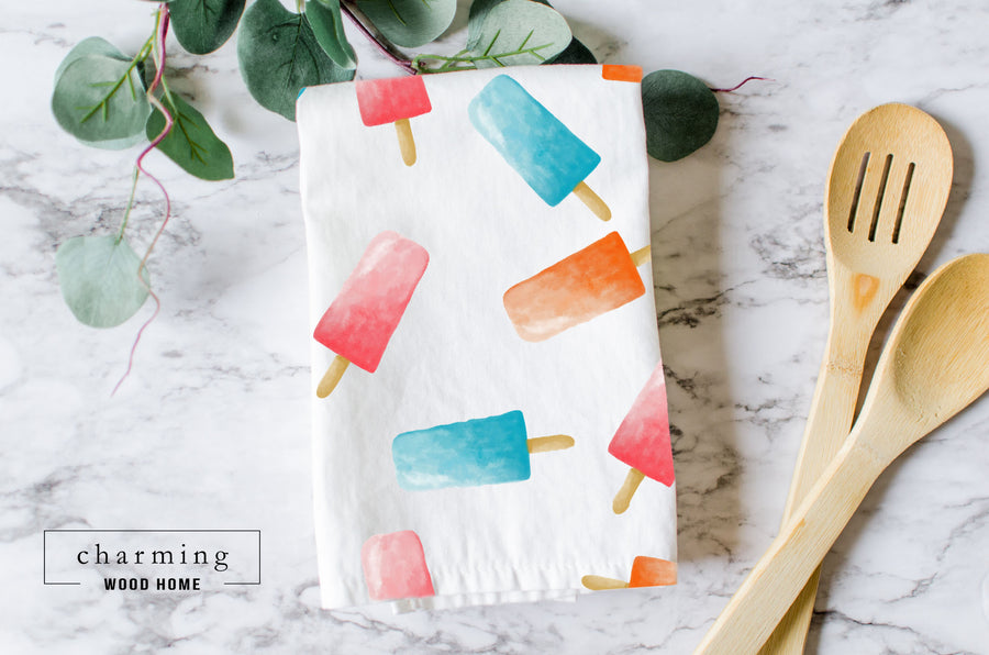 Popsicle Pattern Tea Towel - Charming Wood Home