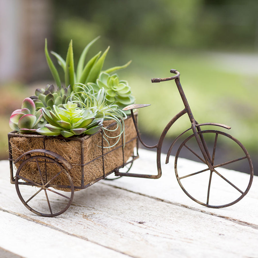 Rickshaw Planter - Charming Wood Home