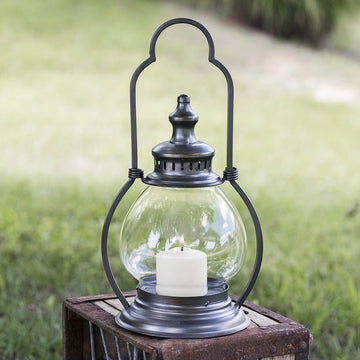 Small Gunmetal Steeple Lantern - Charming Wood Home