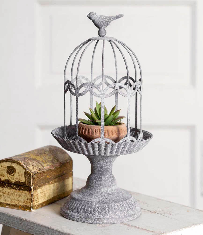 Songbird Gazebo Cloche with Base - Charming Wood Home