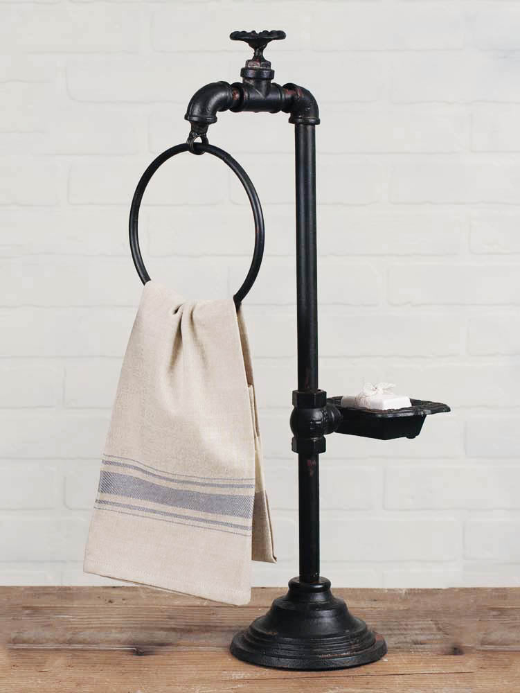 Spigot Soap and Towel Holder - Charming Wood Home