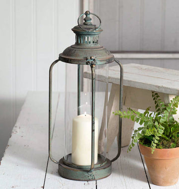 Tall Cork County Lantern - Charming Wood Home