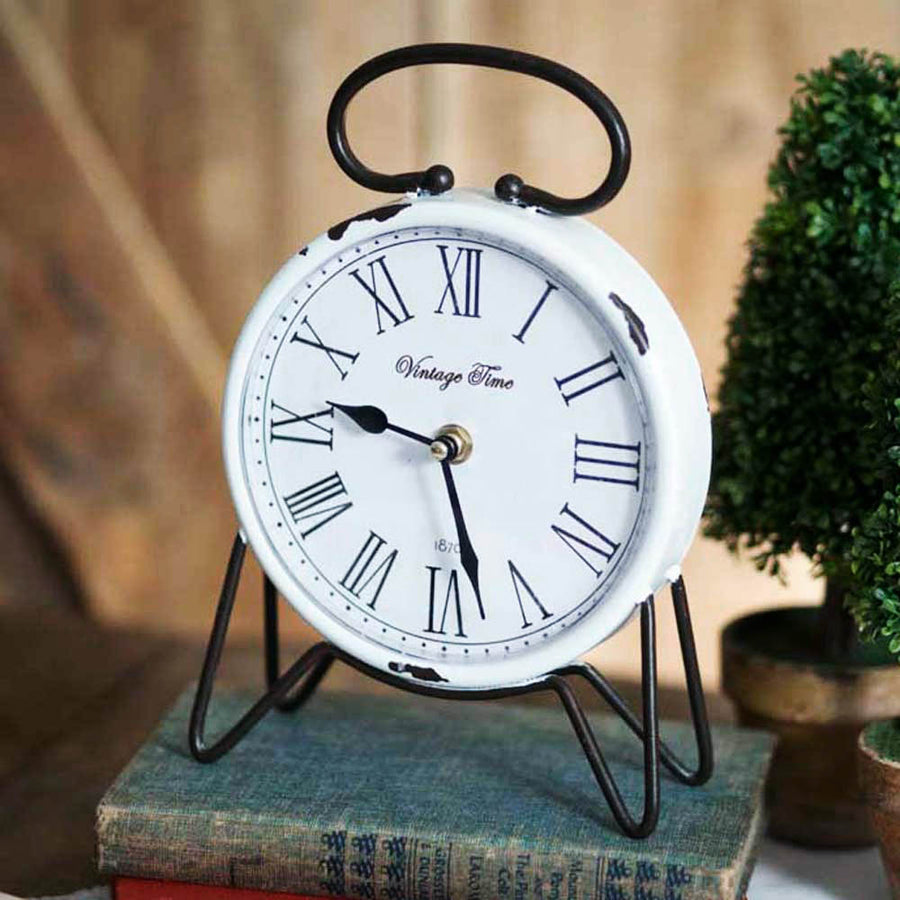 Vintage Time Tabletop Clock - Charming Wood Home