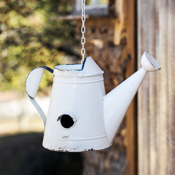Watering Can Birdhouse - Charming Wood Home