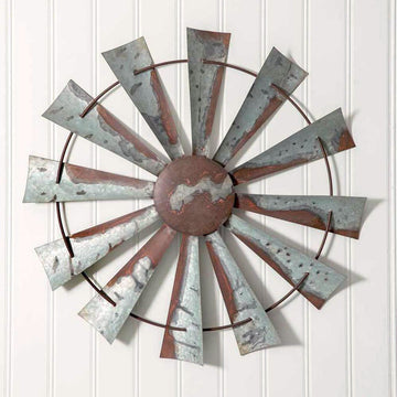 Windmill Wall Decor - Charming Wood Home