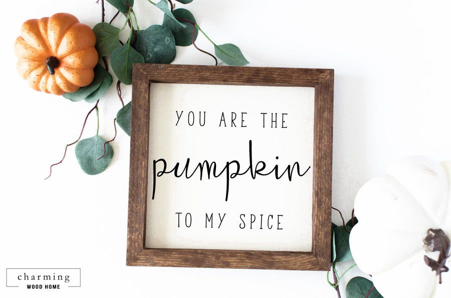 You are the Pumpkin to my Spice Painted Wood Sign - Charming Wood Home