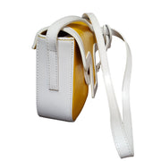 Soave Leather Yellow and White Shoulder Bag  (18009M8)