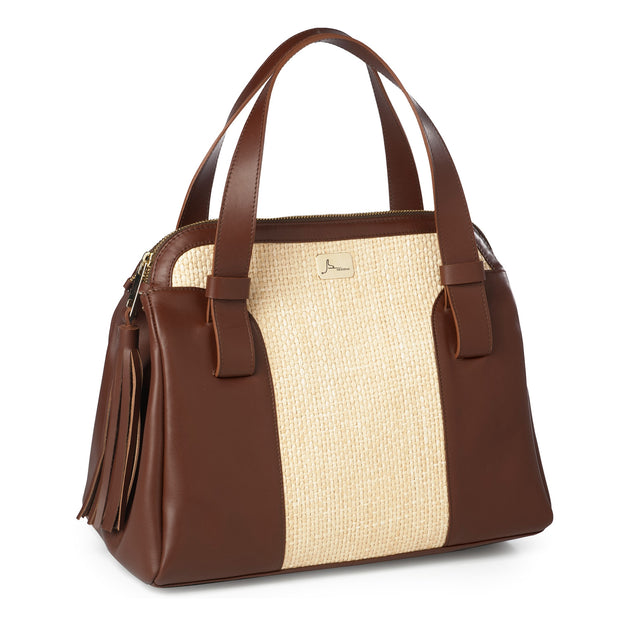 ONE & ONLY La Vita Bella Movie Leather Tote (18013)