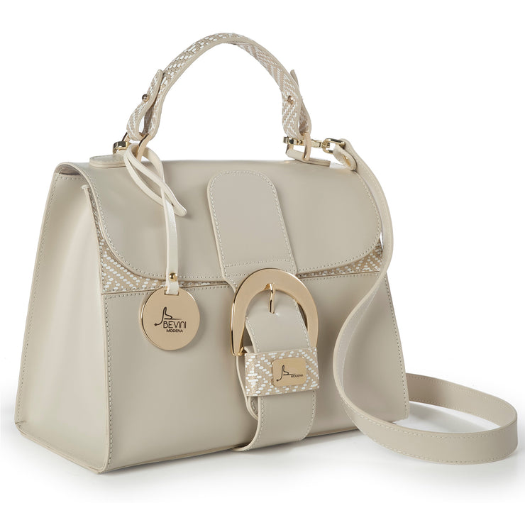 ONE & ONLY Soave Leather Two-Toned Trim Bag  (18020M17)