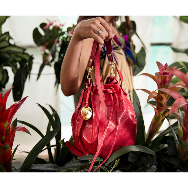 ONE & ONLY Sauvage Red Leather Shoulder Bag  (19005M5)