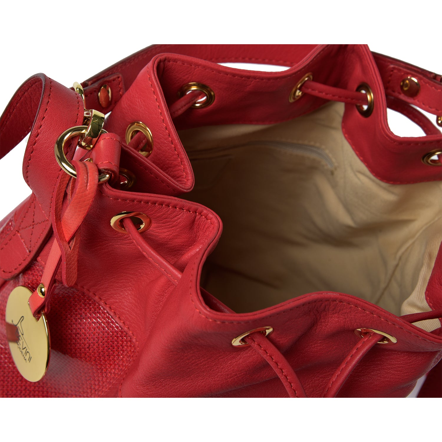 One & Only Siena Red Leather Shoulder Bag (19005M5)