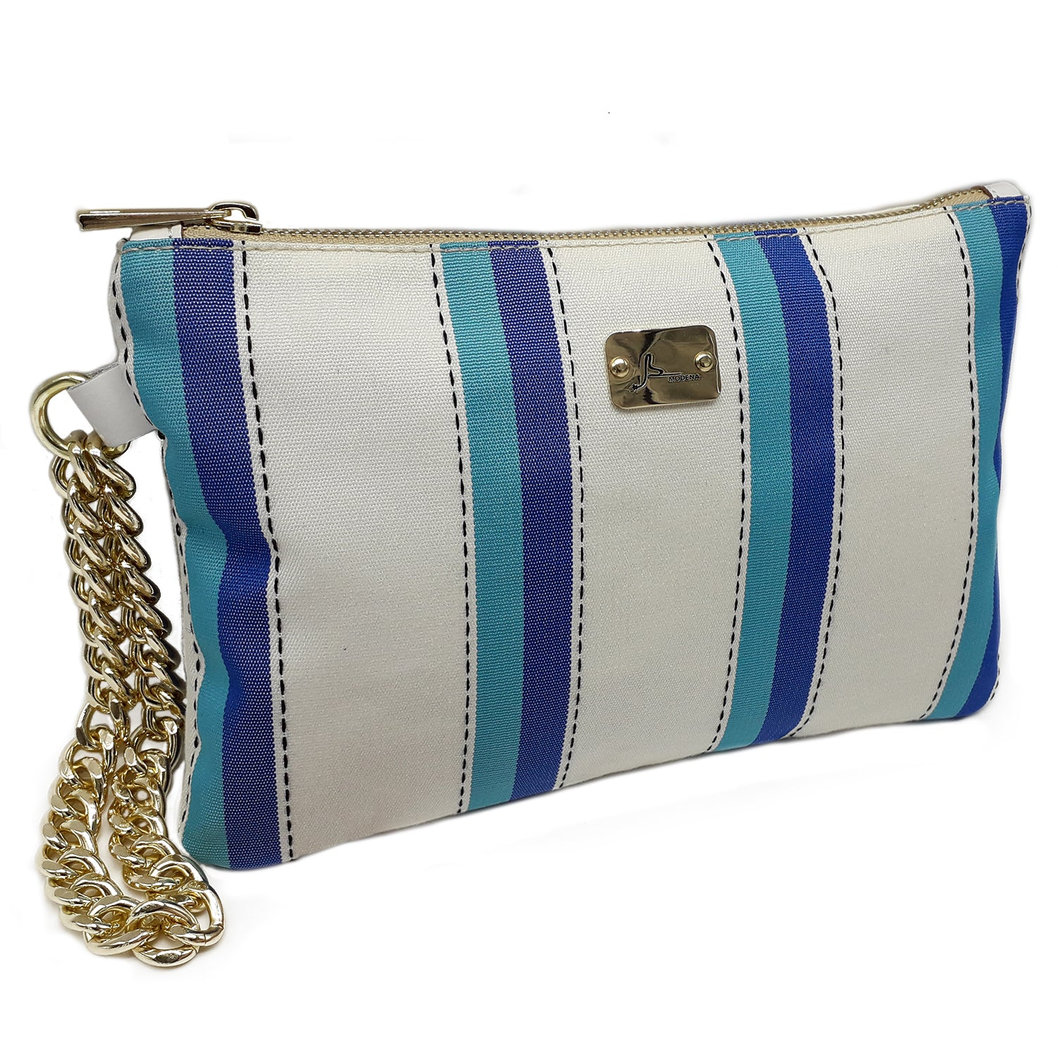 NEW PRECIOUS Multi Stripes - Gold Chain Bracelet Bag