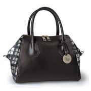 ONE & ONLY Dollaro Leather & Calf-Hair Trim Tote (28001M1)