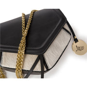 Gold Chain Small-Soft Movie Leather & Haircalf Bag (29001M1)