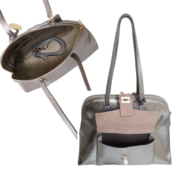 Iconic Bugatti Laminated Leather Tote (B278U)