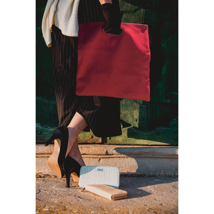 FORTE di MARMI Color-Block Dollaro Leather Clutch