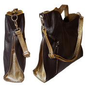 Shimmered Leather Shoulder Bag (B127)