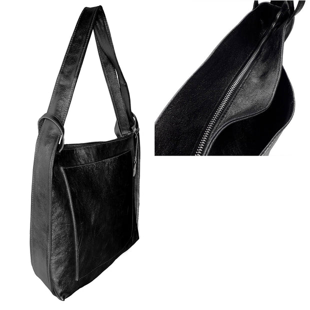 Suede crinkled leather shoulder Bag & Backpack (B161LP)