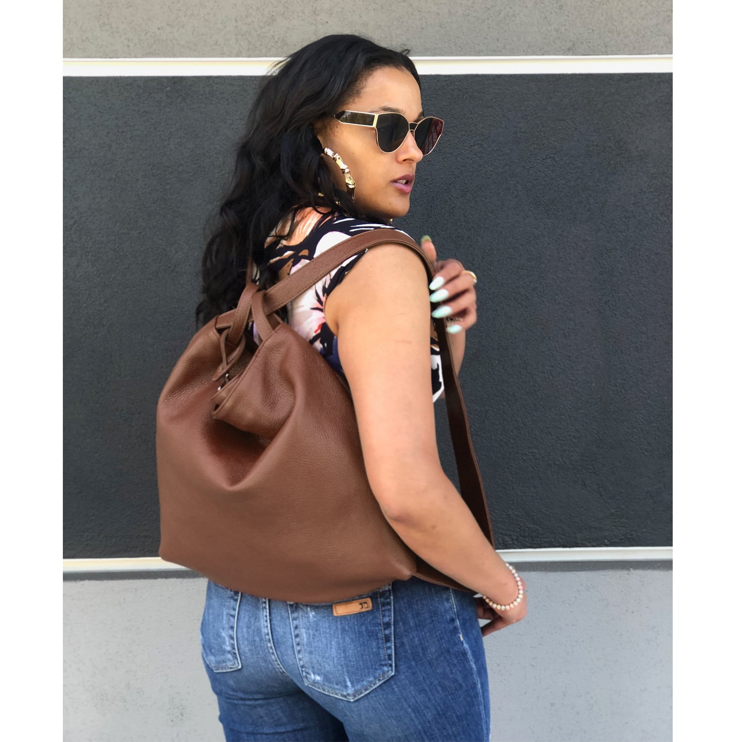 Dollaro Leather Shoulder Bag & Backpack (B161)