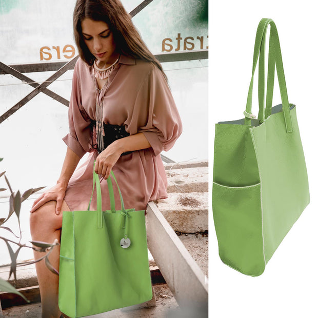 Bella Leather Tote (B174)