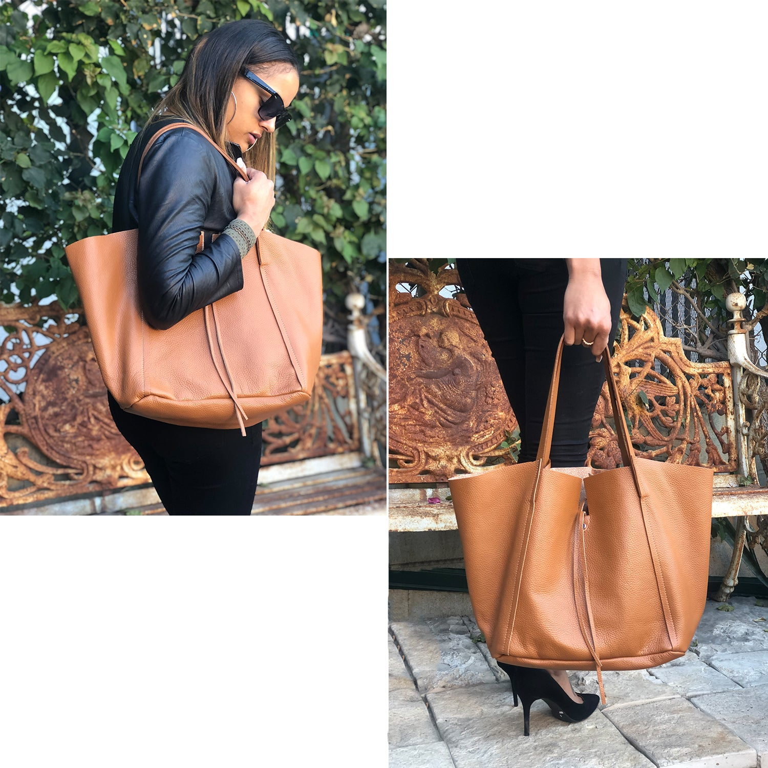 Dollaro & Razza Leather Shoulder Bag (B175)